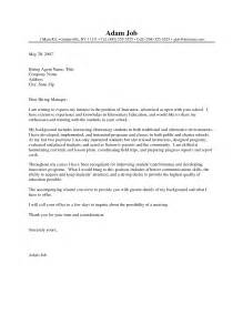 Cover Letter For Employment Sle Letter Application Writing