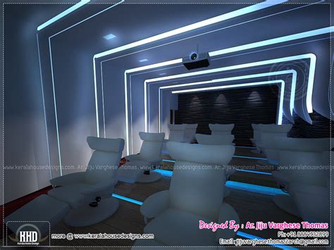 home theatre interior design home theater and spillover space interiors kerala home