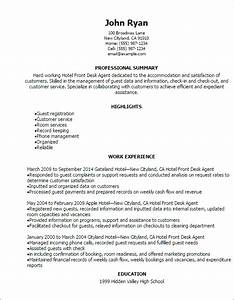 front desk resume sample best professional resumes With hotel resume