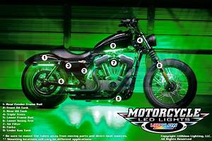 Mounting locations for your ledglow motorcycle lighting