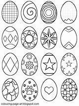 Easter Egg Coloring Eggs Pages Colouring Printable Sheet Colour Sheets Designs Outline Symbol Blank Drawing Bunny Drawings Multiple Abstract Line sketch template