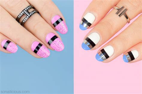 Nail Art Tutorial : 2 Mixed Media Easy Nail Designs [nail Art Tutorial]