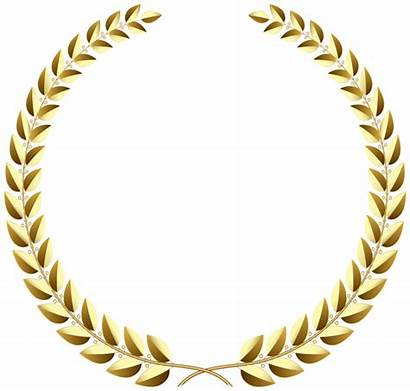 Laurel Transparent Wreath Gold Golden Clip Clipart
