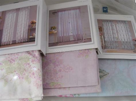 2 Simply Shabby Chic Voile Lilac Floral Sheer Lavender