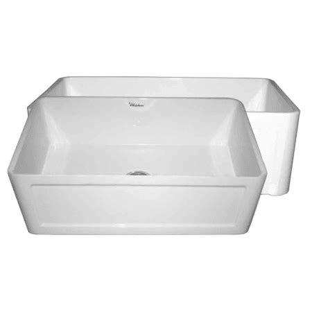 whitehaus kitchen sinks whitehaus whflcon3018 white white 30 quot dual apron 1069
