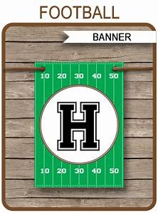 Youtube Banner Art Template Football Party Banner Template Birthday Banner
