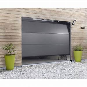 Porte de garage sectionnelle hormann h200 x l240 cm for Porte de garage sectionnelle hormann
