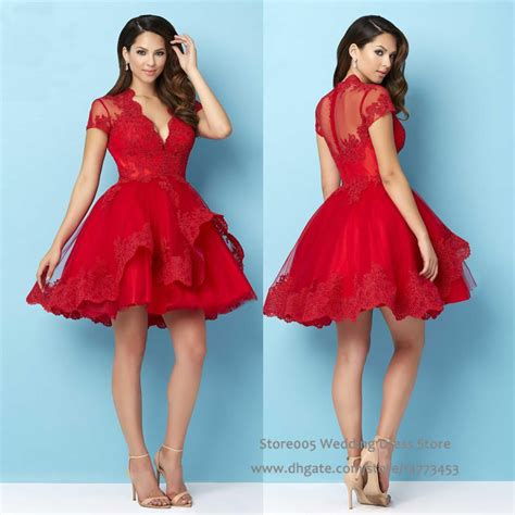 2016 christmas puffy red homecoming short dress for party