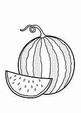 Coloring Watermelon Pages Garnet Fruit Fruits Vegetables Cucumber sketch template