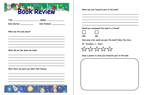 Book Review Template Summer Reading Club 2013 Up Up And Away Week 2