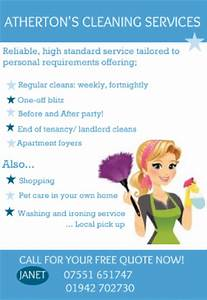 ironing service flyer template - atherton 39 s cleaning services domestic services wigan