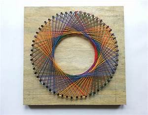Diy Rainbow Spirograph String Art · How To Make String Art
