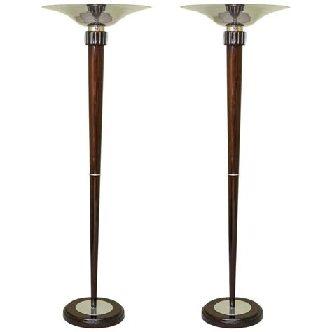 torchiere table l deco moderne torchiere floor l with table at 1stdibs mid century cattail