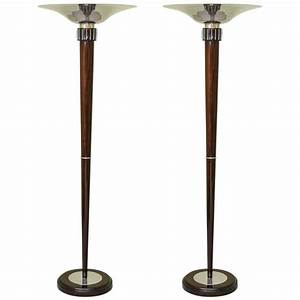 pair of art deco french torchiere floor lamps for sale at With parisian torchiere floor lamp