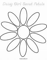 Daisy Coloring Scout Petals Built California Usa sketch template