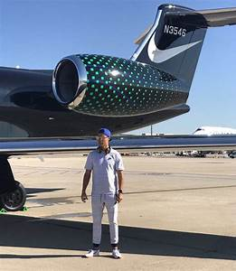 Real Star Cristiano Ronaldo Stands By Nike Branded Jet
