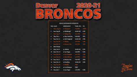 denver broncos wallpaper schedule
