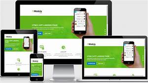 mobile app landing page free download webthemez With mobile site template free download
