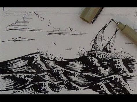 ink drawing tutorial   draw water youtube