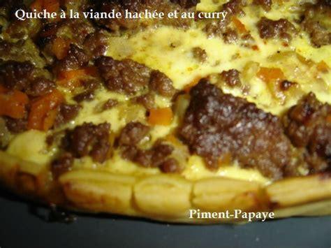 quiche a la viande hachee et au curry piment papaye