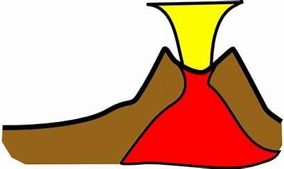 Volcano Clip Clipart Eruption Erupt Vector Animation