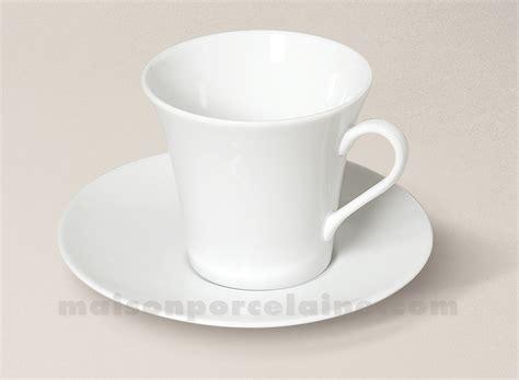 tasse dej soucoupe porcelaine blanche kosmos maison de la porcelaine