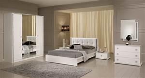 miroir tess chambre a coucher blanc brillant With photo des chambres a coucher