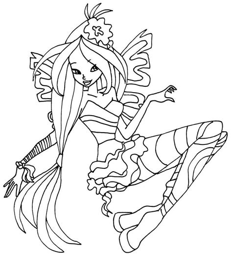 Winx Sirenix Kleurplaten by Winx Sirenix Coloring Pages To And Print For Free