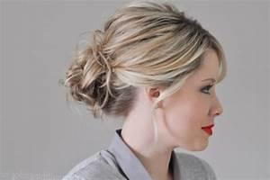 Coiffure Tresse Facile Cheveux Mi Long : chignon cheveux mi long coiffure simple et facile ~ Melissatoandfro.com Idées de Décoration