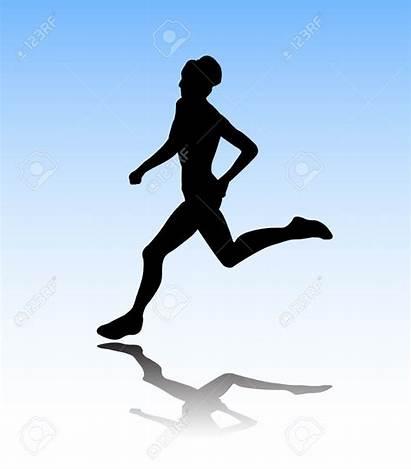 Runner Female Silhouette Clipart Marathon Running Clip