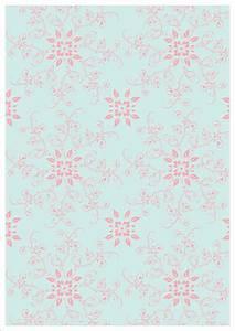 Vintage Pink Floral Ornament Design Printable Scrapbook ...