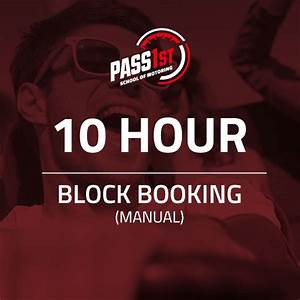 Driving Lessons Block Booking 10 Hours Manual