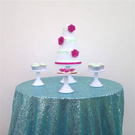 light pink table linens light blue tablecloth new round elastic table covers