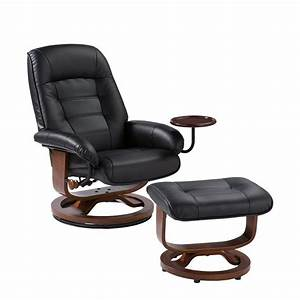 Home Decorators Collection Black Leather Reclining Chair