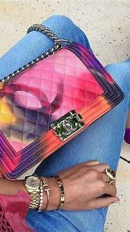 Color bomb Chanel ♡   Bags, Chanel bag, Purses