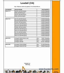 Jcb Telescopic Handlers Loadall Service Manual