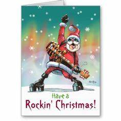 Have a Rockin Christmas Greeting Card Funny humor