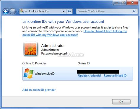 how to link your windows 7 user account with windows live