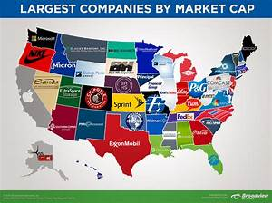 Map of the Largest Companies in Each State by Market Ca ...