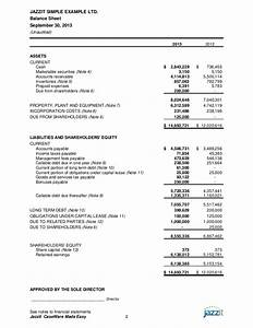 sample financial statements from jazzit fundamentals With trust financial statements template