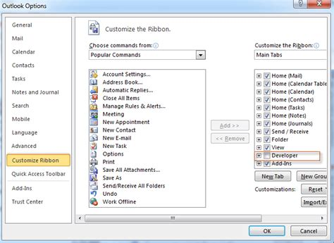 find forms in outlook 2010 where is forms command in outlook 2010 2013 and 2016