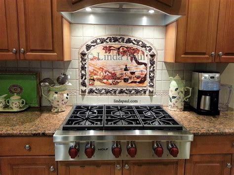 kitchen backsplash designs photo gallery grapes mosaic tile medallion kitchen backsplash mural