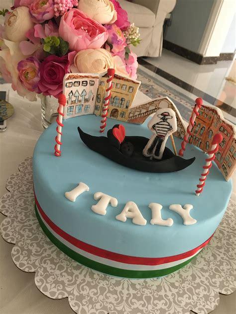 italy themed cake  images cake birthday cake card