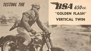 1950 BSA 650cc Golden Flash Vertical Twin Motorcycle Road ...