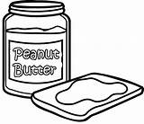 Butter Peanut Coloring Pages Bread Drawing Sheets Cute Easy Drawings Getdrawings Comments sketch template