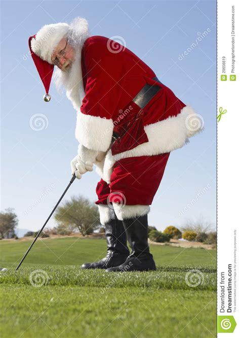 santa golfer santa claus golf stock image image of festive 29656619