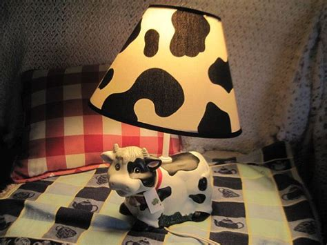 Sweet Cow Lamp Darling In Country Kitchen / Not Included
