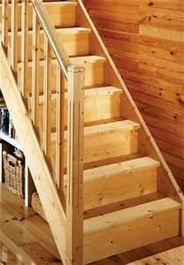 Escalier Droit Bois : escalier droit en bois lapeyre photo 8 15 un ~ Premium-room.com Idées de Décoration