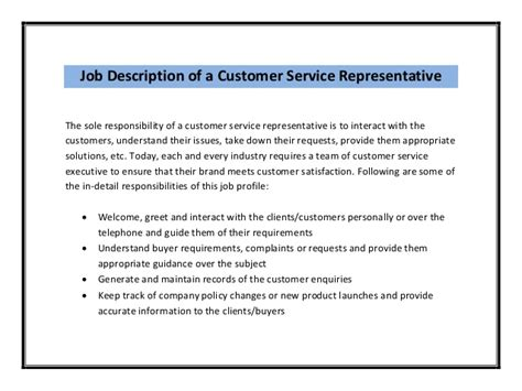 front desk customer service job description customer service resume sle