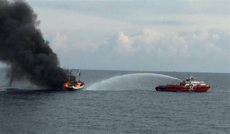 Fishing Boat Accident Gladstone by Gulf Of Thailand Fire Shipwreck Log Shipwreck Log
